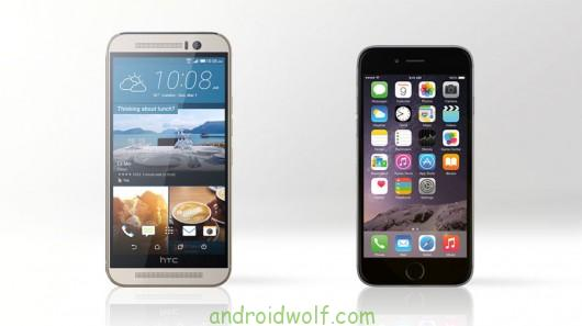 HTC One M9 vs. iPhone 6