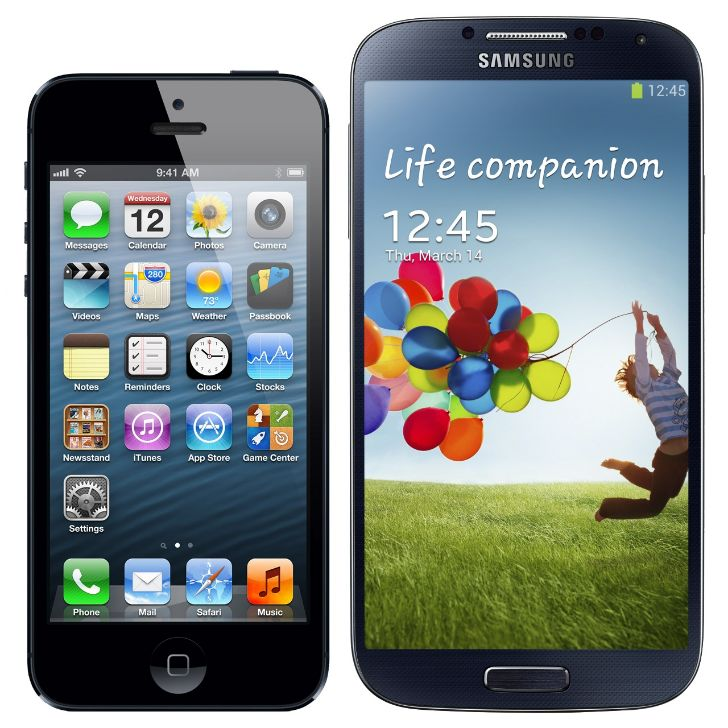 Galaxy S4 Vs iPhone 5 Pantalla