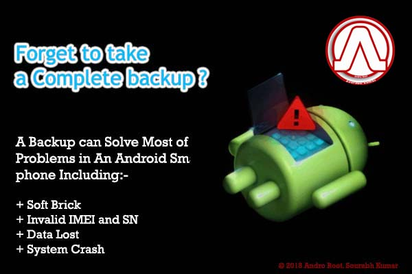 Complete System Backup Android Smartphone