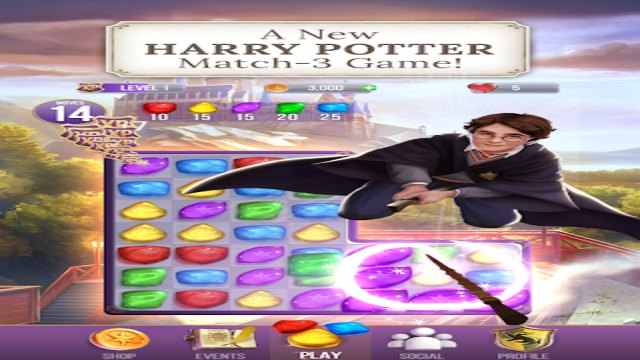 Harry Potter Puzzles & Spells Mod Apk Unlimited Lives Coins for Android gameplay walkthrough 1 happy pure gameplay 9