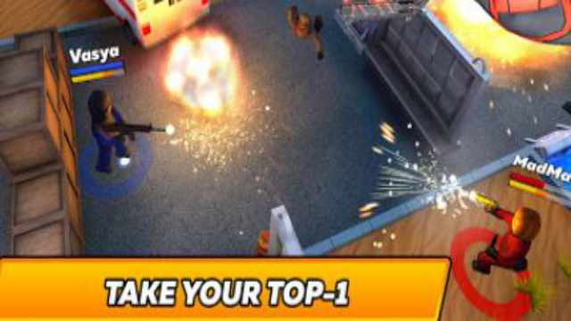 Kuboom Arcade Mod Apk Unlimited Money 3D Shooter download free Android battle royale happy 6 game latest gameplay