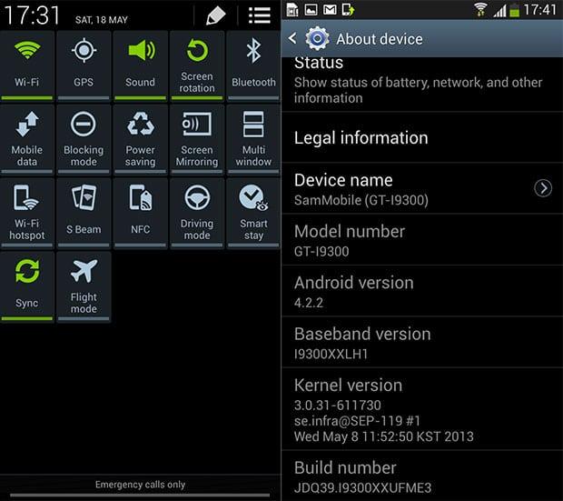Galaxy S3 Andrpid 4.2.2