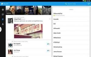 La nueva app para tabletas de Twitter