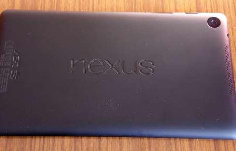 Nexus 7 trasera