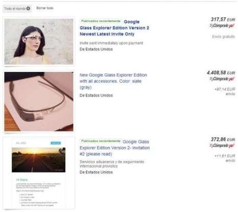 Google Glass en Ebay