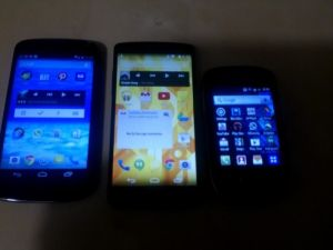 Nexus 4, Nexus 5 y Samsung Galaxy mini