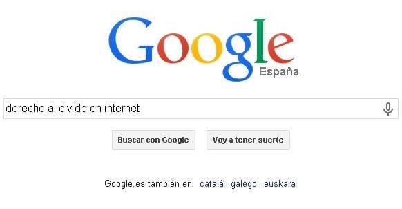 Olvido en internet con Google