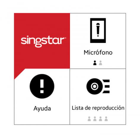 SingStar Menu