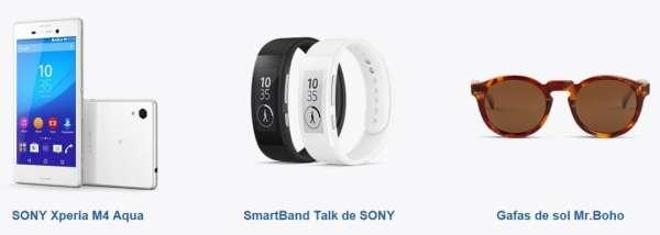Sony Xperia M4 Aqua + SmartBand Talk + Gafas Mr. Boho = 299€