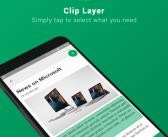 Microsoft lanza Clip Layer para Android, una aplicación para seleccionar trozos de documentos y pantallas, guardarlos o compartirlos