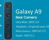 Samsung presenta el nuevo Galaxy A9, el primero que incorpora cuatro cámaras traseras además de la delantera