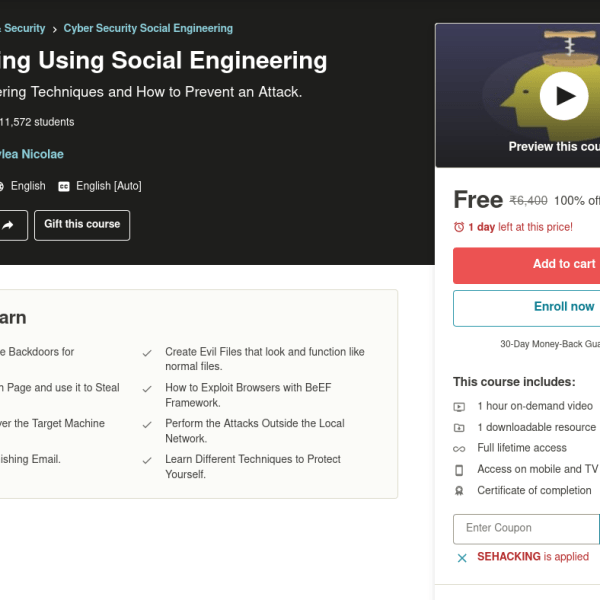 Learn Hacking Using Social Engineering