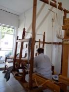 Rolandos at his loom