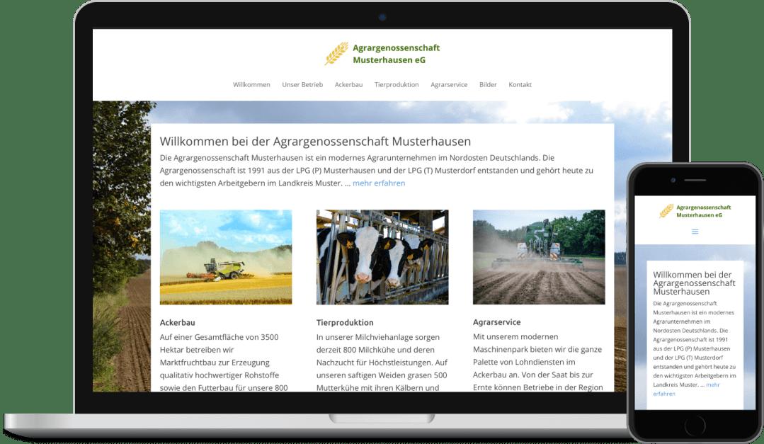 Webdesign Landwirtschaft