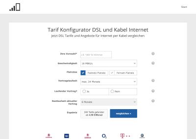 DSL & Kabel Tarifkonfigurator