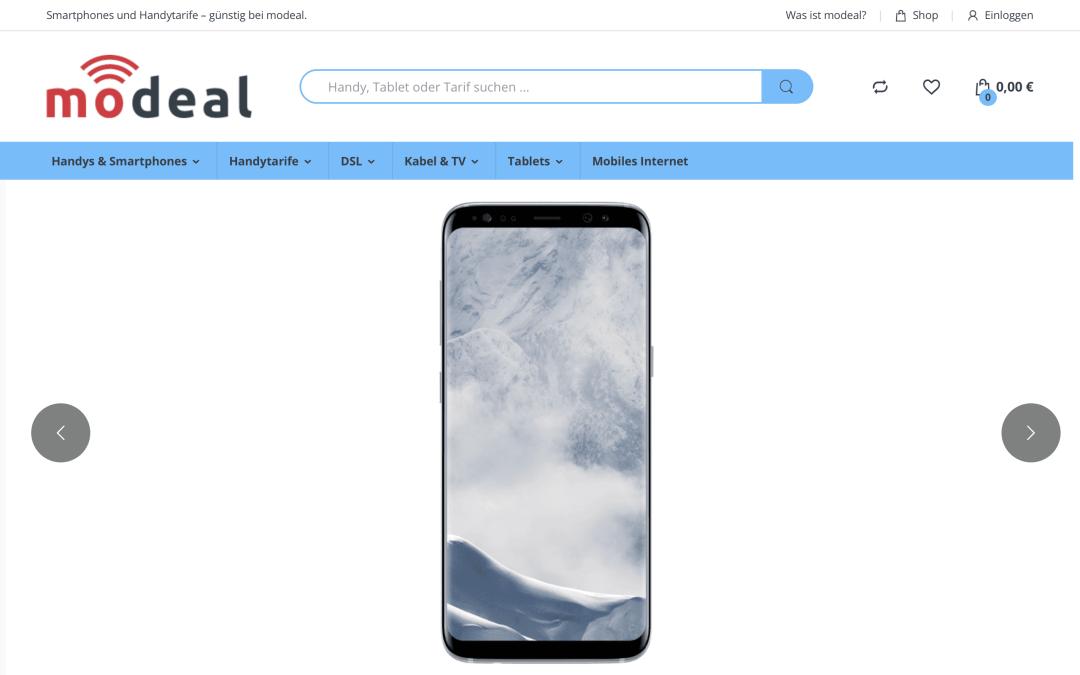 Mobilfunk Webseite Webdesign