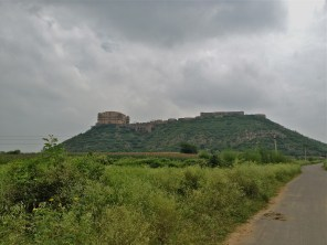 The Tijara Fort as seen from the approach road