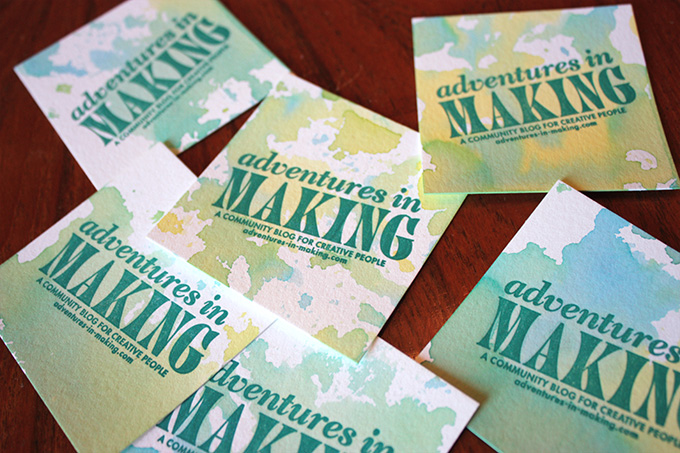 Watercolored Business Cards