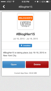BlogHer App, iPhone edition