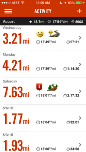 Not much running is going on