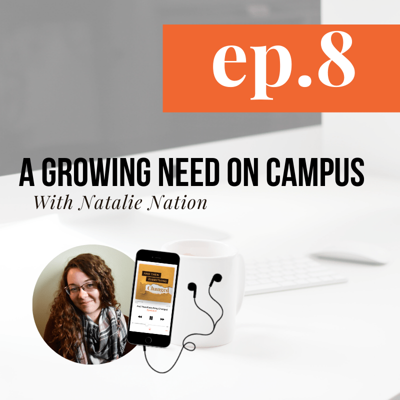 And Then Everything Changed Podcast - Episode 8: A Growing Need on Campus ft. Natalie Nation