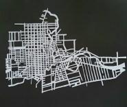 Vintage patterned London, Ontario Map on black