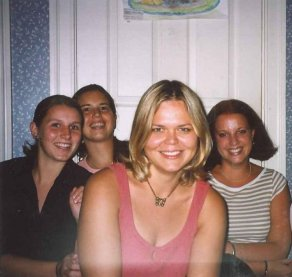 Selfie time with (from left) Julia, Gyongyver, me, Tess. Northern Virginia 2002