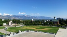 The view from Utah State Capitol