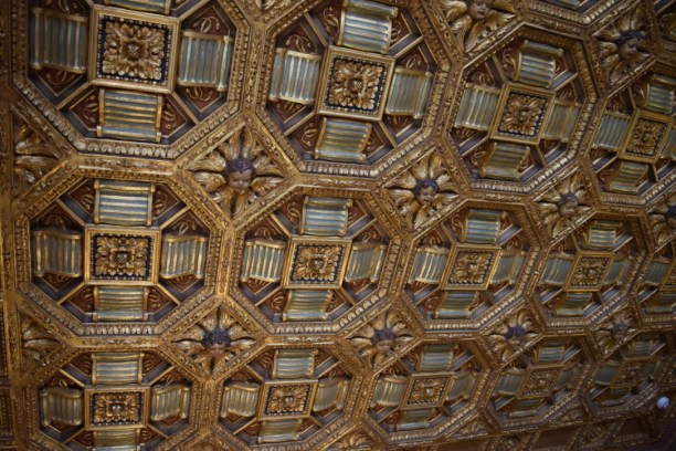 Cottage ceiling in Hearst Castle