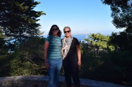 Charlene and Triin at Coit Tower, San Francisco