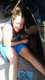 Charlene getting dirty