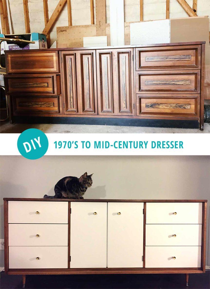 Diy Mid Century Modern Dresser And Then We Tried
