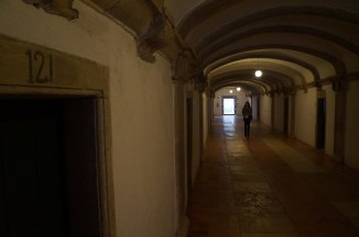 exploring the halls - there were prayer room and halls and accomodations off these hallways