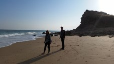 walking on a nearby beach as part of our scenic route home