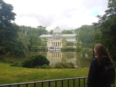 The Palacio de Cristal. Originally built in the late 1800s to showcase flora and fauna from the Philippines, occupied by Spain at the time. Currently used for art exhibits.