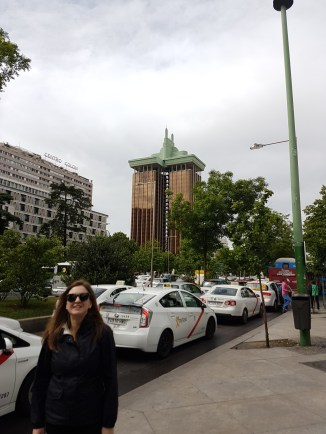 """Behind me is a famous Spanish building, often featured on lists of """"ugliest buildings"""""""