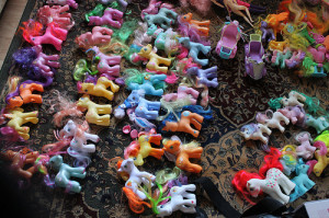 You don't have to bring ALL their toys, just pack one of two special toys. I mean really how many My Little Ponies can one child play with at a time. Right?!