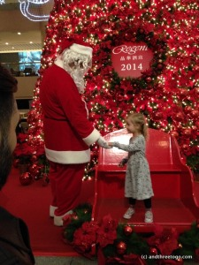 Z meeting Santa' Helper at the Regent, Taipei in December.