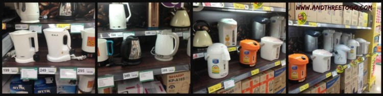 We went to buy an electric kettle and were overwhelmed with the choices. I never owned one of these in the States, but now I cannot live without one.