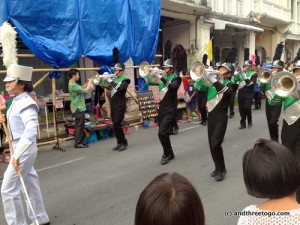 A marching band