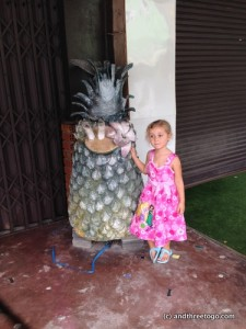 Z and a giant pineapple. Just because.