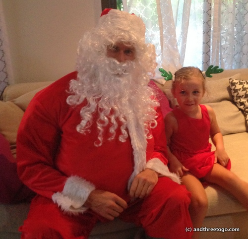 Santa's helper came to Phuket! An incredibly nice dad in the group was willing to dress up in this heavy outfit for the kids, it was awesome.