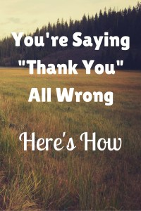 You're Saying -Thank You- All Wrong Pin