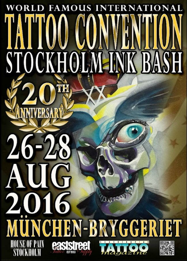Termine - Dates: 26. - 28.08.2016 Stockholm Ink Bash
