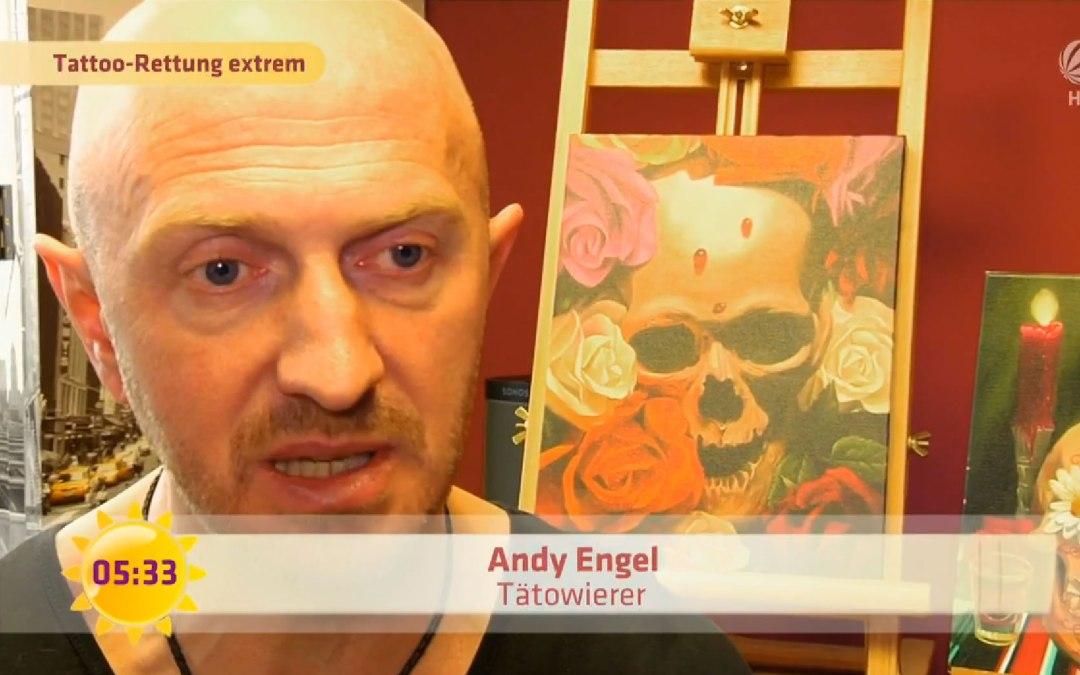Sat 1 Frühstücksfernsehen – Tattoo-Desaster – Andy Engel hilft!