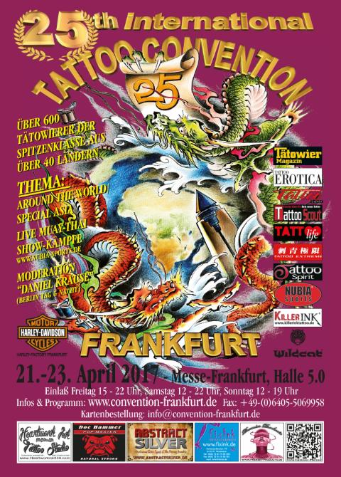 Termine - Dates: 25. Internationale Tattoo-Convention Frankfurt am Main - 21. - 23.04.2017