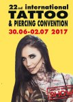 22. internationalen Tattoo – und Piercing Convention in Dortmund vom 30. Juni – 02. Juli 2017