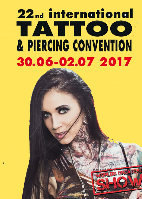 22. internationalen Tattoo – und Piercing Convention in Dortmund vom 30. Juni – 02. Juli 2017