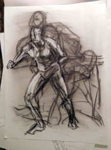 Figure sketch of multiple poses.