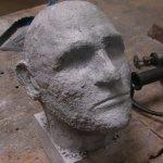 Sandblasted aluminum bust.